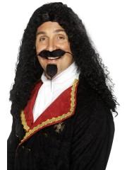 perruque pour homme, perruque pas chère, perruque de déguisement, perruque homme, perruque noire, perruque de mousquetaire Perruque Mousquetaire, Noire