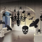 kit suspensions noires halloween, décorations halloween, accessoires décos halloween, décorations accessoire halloween, suspensions halloween Suspensions Dark Halloween, Noir Glitter