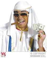chapeau d'émir arabe, chapeau de cheik arabe, chapeau oriental, coiffe laurence d'Arabie, coiffe arabe Chapeau d'Emir, Blanc