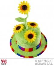 chapeau tournesol, chapeau fleurs, chapeau humour, chapeau de jardinier, Chapeau Fleurs de Tournesol