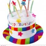 chapeau anniversaire, chapeau gâteau d'anniversaire, accessoire pour anniversaire, chapeau bougies Chapeau Anniversaire avec Bougies