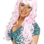 perruque pour femme, acheter perruque femme à paris, perruque de déguisement, perruque pas cher, perruque ondulée, perruque rose, perruque de sirène Perruque Sirène, Rose