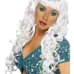 perruque pour femme, acheter perruque femme à paris, perruque de déguisement, perruque pas cher, perruque ondulée, perruque blanche, perruque de sirène Perruque Sirène, Blanche