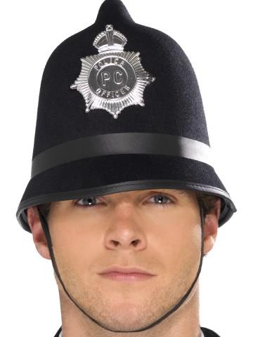 casque police anglaise, accessoires policier, accessoire déguisement anglais, casque de bobby anglais Casque de Policier Anglais