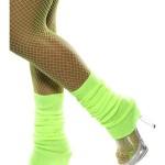 guêtre année 80 vert fluo, accessoire années 80, accessoire déguisement, accessoire disco, accessoire fluo, guêtres années 80, accessoire disco Guêtres Années 80, Vert Fluo
