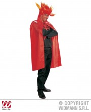 cape rouge déguisement, cape de diable déguisement, cape de vampire déguisement, cape halloween adulte, cape halloween rouge, cape de diable halloween, accessoire halloween Cape Rouge, 115 cm