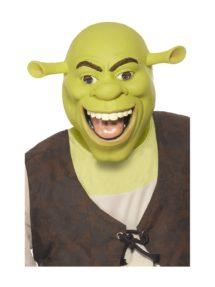 masque de schreck, masque de déguisement, accessoire déguisement masque, accessoire masque déguisement, masque célébrité dessin animé, Masque de Shrek, Latex