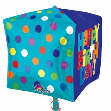 ballon hélium, ballon anniversaire, ballon happy birthday Ballon Aluminium, Anniversaire, Cube Happy Birthday