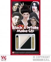 palette de maquillage noir et blanc, maquillage halloween, maquillage déguisement halloween, maquillage noir et blanc Palette de Maquillage Noir et Blanc