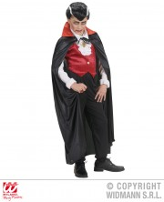 cape noire col rouge, cape halloween, cape noire halloween, cape à col rouge halloween, cape adulte halloween, cape de vampire halloween enfant, cape enfant halloween Cape Noire, Col Rouge en Satin
