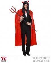 cape rouge adulte halloween, cape halloween adulte, cape diable halloween, cape de vampire halloween, cape halloween déguisement, cape halloween adulte, accessoire halloween Cape Rouge, Velours, 130 cm
