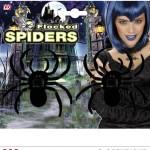 fausse araignée, araignées halloween, accessoire araignée halloween, accessoire décorations halloween, décorations araignées halloween, décorations halloween, fausses araignées noires velues Araignées Floquées x 2