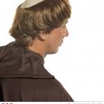 perruque pour homme, perruque pas chère, perruque de déguisement, perruque homme, perruque de moine, perruque avec crâne Perruque de Moine, Châtain