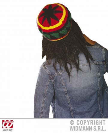 bonnet rasta, accessoires déguisements rasta, bonnet rasta dreadlocks Bonnet Rasta