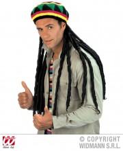 bonnet rasta avec dreads, accessoires déguisement rasta, perruque dreadlocks, perruque rasta, chapeau rasta Bonnet Rasta avec Dreads