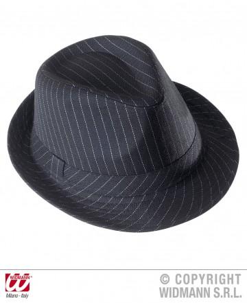 chapeau borsalino noir rayures blanches aux feux de la. Black Bedroom Furniture Sets. Home Design Ideas