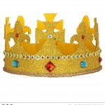 couronne de roi Couronne Royale, Dorée Paillettes