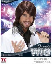 perruque pour homme, perruque pas chère, perruque de déguisement, perruque homme, perruque châtain , perruque années 70, perruque disco Perruque 70's Pop Star Legend, Châtain