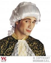 perruque pour homme, perruque pas chère, perruque de déguisement, perruque homme, perruque de marquis, perruque versailles, perruque blanche Perruque de Marquis Chevalier, Blanche