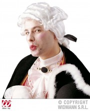 perruque pour homme, perruque pas chère, perruque de déguisement, perruque homme, perruque blanche, perruque de marquis, perruque casanova, perruque versailles, perruque catogan Perruque de Marquis Casanova, Blanche