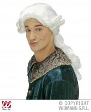 perruque pour homme, perruque pas chère, perruque de déguisement, perruque homme, perruque blanche, perruque de marquis, perruque historique, perruque versailles Perruque de Marquis Duc Donatien, Blanche
