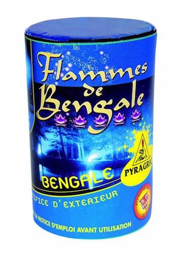 feux de bengale, pétards, pétards et fumigènes, pyragric, acheter des pétards à paris Flamme de Bengale Bleue