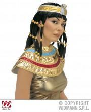 perruque femme, perruque pas cher paris, perruque noire, perruque cléopatre, perruque d'égyptienne, perruque de cléopatre Perruque Cleopatre, avec Col, Noire