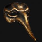 masque vénitien Vénitien, Naso Scaramouche, Bronze