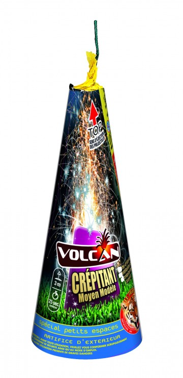 feux d'artifice automatique, feux d'artifice de proximité, feux d'artifices volcans, achat feux d'artifice paris, feux d'artifices pyragric Feux d'Artifices, Volcans, Volcan Crépitant MM