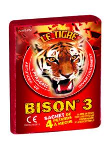feux tigre, Le Tigre Bison 3, Pétards