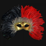 masque vénitien Vénitien, Piume Reale, Rouge et Noir