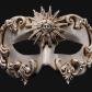 masque vénitien, loup vénitien, masque carnaval de venise, véritable masque vénitien, accessoire carnaval de venise, déguisement carnaval de venise, loup vénitien fait main Vénitien, Barocco Sole, Blanc