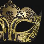 masque vénitien, loup vénitien, masque carnaval de venise, véritable masque vénitien, accessoire carnaval de venise, déguisement carnaval de venise, loup vénitien fait main Vénitien, Stella, Noir et Or