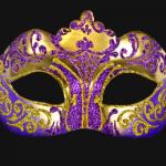 masque vénitien, loup vénitien, masque carnaval de venise, véritable masque vénitien, accessoire carnaval de venise, déguisement carnaval de venise, loup vénitien fait main Vénitien, Stella, Violet et Or