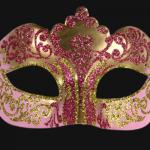 masque vénitien, loup vénitien, masque carnaval de venise, véritable masque vénitien, accessoire carnaval de venise, déguisement carnaval de venise, loup vénitien fait main Vénitien, Stella, Rose et Or