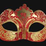masque vénitien, loup vénitien, masque carnaval de venise, véritable masque vénitien, accessoire carnaval de venise, déguisement carnaval de venise, loup vénitien fait main Vénitien, Stella, Rouge et Or