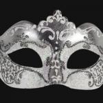 masque vénitien, loup vénitien, masque carnaval de venise, véritable masque vénitien, accessoire carnaval de venise, déguisement carnaval de venise, loup vénitien fait main Vénitien, Stella, Blanc et Argent