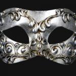 masque vénitien, loup vénitien, masque carnaval de venise, véritable masque vénitien, accessoire carnaval de venise, déguisement carnaval de venise, loup vénitien fait main Vénitien, Colombina Stucchi, Argent